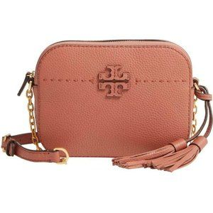 Tory Burch Camera Mcgraw Brown Leather